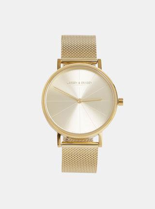 Dámske hodinky s nerezovým remienkom v zlatej farbe LARSEN & ERIKSEN