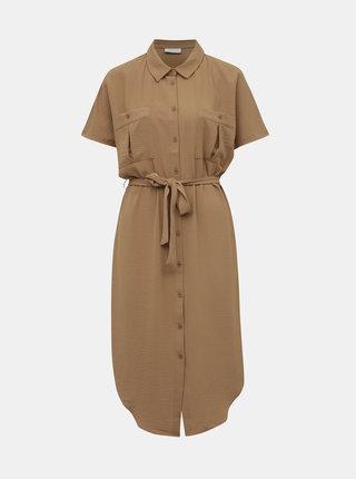 Hnedé košeľové šaty VILA Rasha