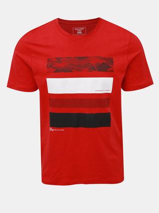 Červené tričko s potlačou Jack & Jones Space
