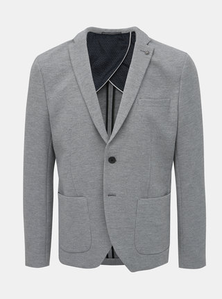 Šedé žíhané slim fit sako Selected Homme Hiken