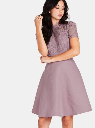 Starorůžové šaty s krajkou Little Mistress