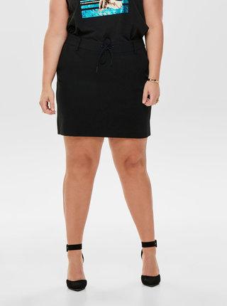 Čierna sukňa s vreckami ONLY CARMAKOMA Gold Trash