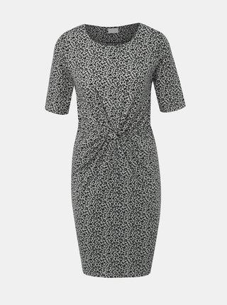 Šedé púzdrové šaty s leopardím vzorom VILA Flet