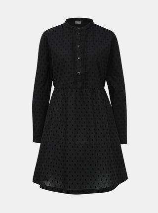 Černé vzorované košilové šaty Jacqueline de Yong May