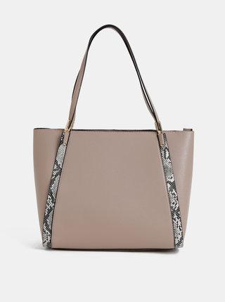 Béžova kabelka s hadím vzorem Dorothy Perkins