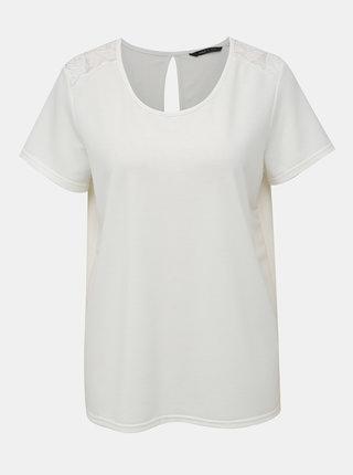 Bílé tričko s krajkou ONLY Ymia