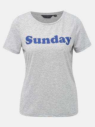 Šedé tričko s potiskem Dorothy Perkins
