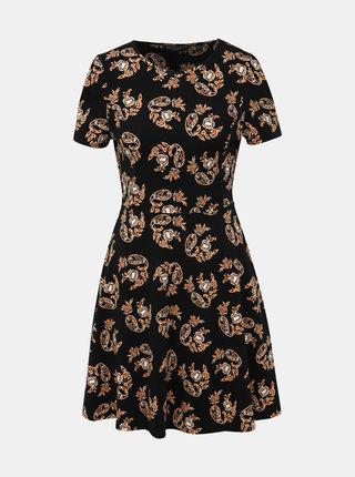 Čierne vzorované šaty Dorothy Perkins