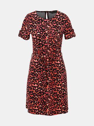 Čierno-rúžové šaty s leopardím vzorom Dorothy Perkins