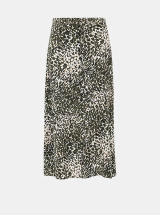Khaki vzorovaná maxi sukně Dorothy Perkins