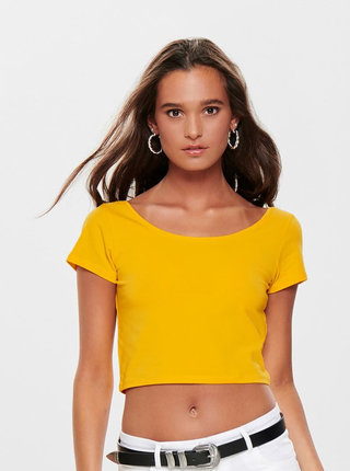 Žltý basic crop top ONLY Live