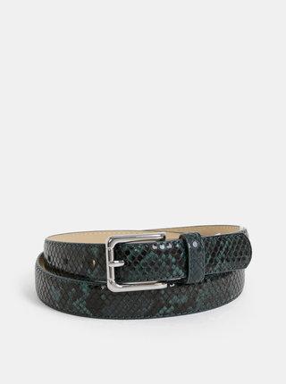 Tmavě zelený pásek s hadím vzorem Pieces Julie