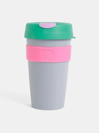 Zeleno-šedý cestovný hrnček KeepCup Original large 454 ml