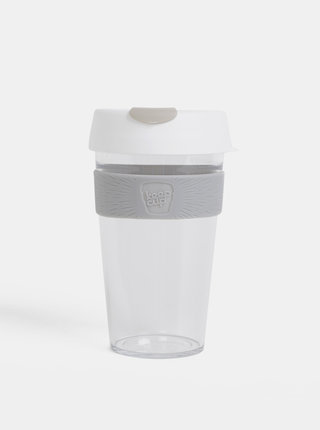 Šedo-biely cestovný hrnček KeepCup Original large 454 ml