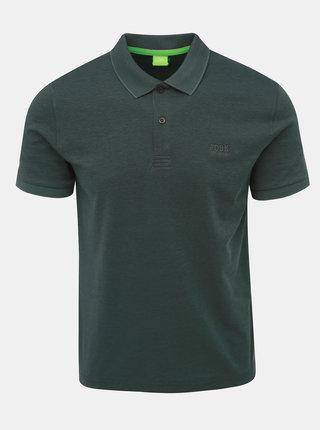 Tmavě zelené polo tričko Feedback