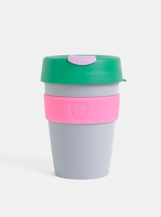 Zeleno-šedý cestovný hrnček KeepCup Original medium 340 ml