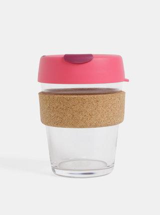 Rúžový sklenený cestovný hrnček KeepCup Brew medium 340 ml