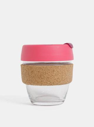 Růžový skleněný cestovní hrnek KeepCup Brew small 227 ml