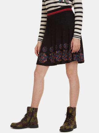Černá vzorovaná sukně Desigual Louise