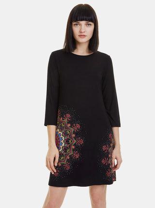 Černé vzorované šaty Desigual Mara