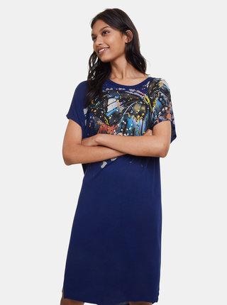 Tmavě modré šaty Desigual Butterfly