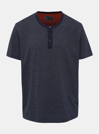 Tmavě modré pruhované tričko Jack & Jones Sune