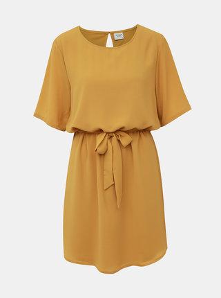 Horčicové šaty Jacqueline de Yong Amanda