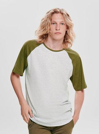 Svetlošedé žíhané basic tričko ONLY & SONS Logan
