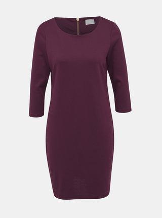 Vínové šaty VILA Tinny