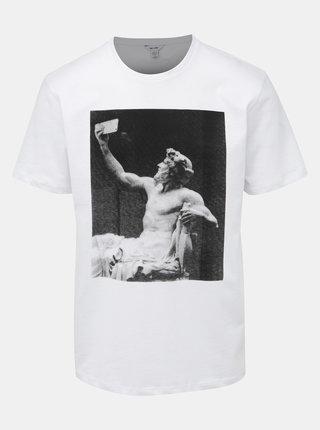 Biele tričko s potlačou ONLY & SONS Gavin