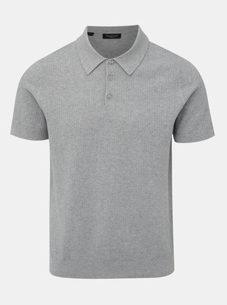 Svetlošedé polo tričko Selected Homme Virgo