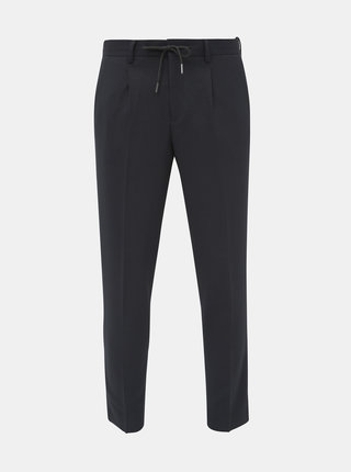 Černé slim fit kalhoty Selected Homme Leo