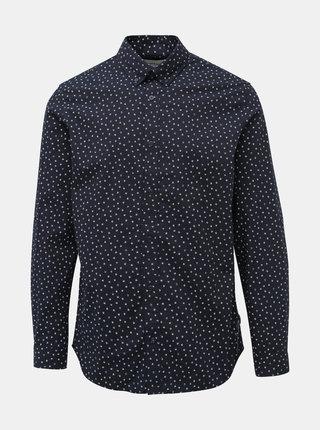 Tmavě modrá vzorovaná slim fit košile Jack & Jones Print
