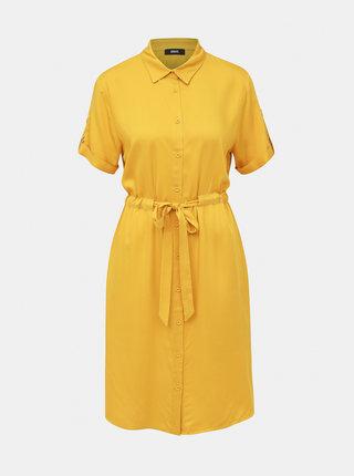 Hořčicové košilové šaty ZOOT