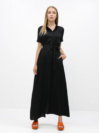 Čierne košeľové maxišaty ZOOT