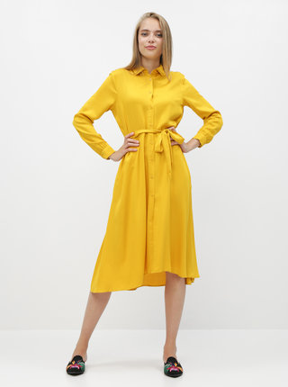 Horčicové košeľové šaty ZOOT