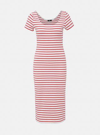 Červeno-bílé pruhované basic šaty ZOOT Junne