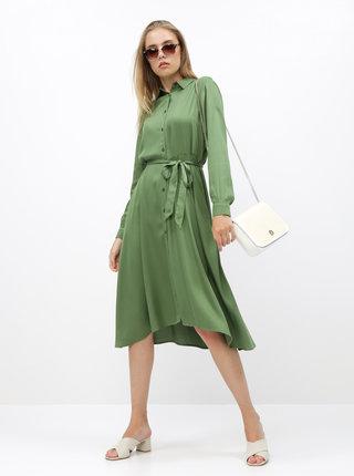 Zelené košeľové šaty ZOOT