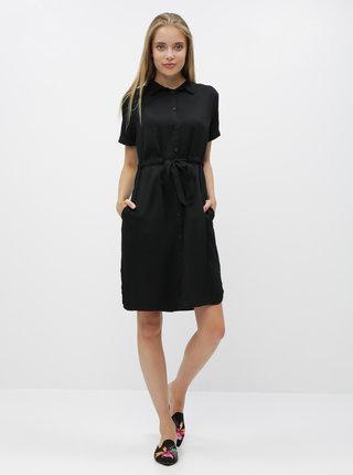 Čierne košeľové šaty ZOOT