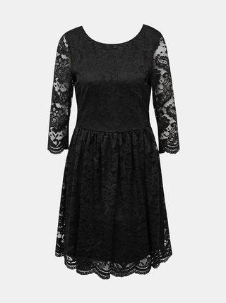 Čierne krajkové šaty VERO MODA Alvia