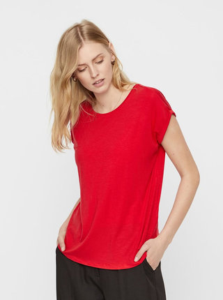 Tricou basic rosu lejer AWARE by VERO MODA Mava