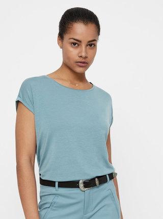 Modré volné basic tričko AWARE by VERO MODA Mava
