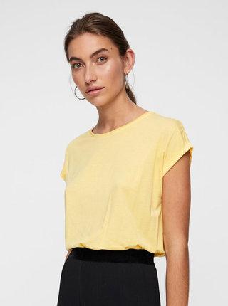 Žluté volné basic tričko AWARE by VERO MODA