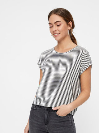 Tricou basic negru-alb in dungi AWARE by VERO MODA Mava