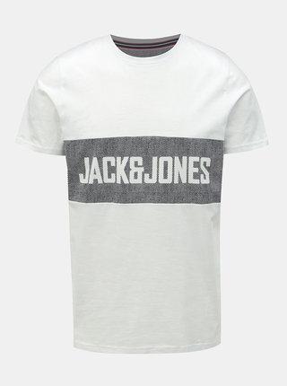 Tricou alb cu imprimeu Jack & Jones Poul
