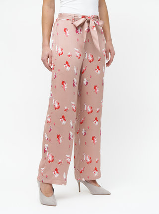 Staroružové kvetované nohavice ONLY Giza