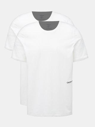 Sada dvou pánskych tričiek pod košeľu v bielej farbe Calvin Klein Underwear