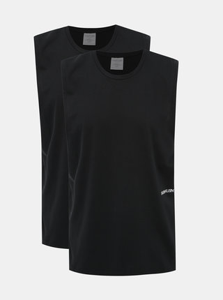 Sada dvoch pánskych tielok v čiernej farbe Calvin Klein Underwear