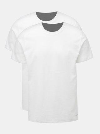 Sada dvou pánských triček pod košili v bílé barvě Calvin Klein Underwear
