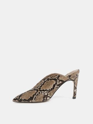 Hnedé lodičky s hadím vzorom Dorothy Perkins